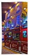 The Temple Bar Pub Dublin Ireland Bath Towel