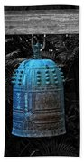 Temple Bell - Buddhist Photography By William Patrick And Sharon Cummings  Bath Towel