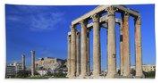 Temple Of Olympian Zeus Athens Greece Bath Towel