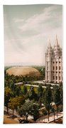 Temple Square Salt Lake City 1899 Bath Towel