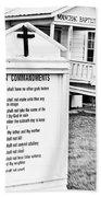 Ten Commandments Bath Towel