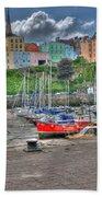 Tenby Harbour In Summer 4 Hand Towel