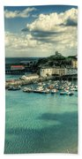 Tenby Harbour Pembrokeshire Bath Towel