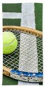 Tennis - Wooden Tennis Racquet Bath Towel