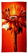 Tequila Sunrise Zinnia Bath Towel