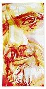Terence Mckenna Watercolor Portrait.2 Bath Towel