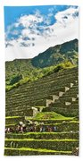 Terraces Of Machu Picchu-peru Bath Towel
