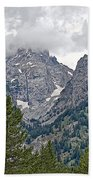 Teton Peaks Near Jenny Lake In Grand Teton National Park-wyoming- Bath Towel