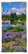 Teton Spring Lupines Bath Towel