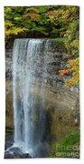 Tews Falls In Autumn Bath Towel