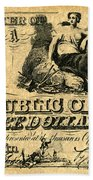 Texas Banknote, 1841 Bath Towel