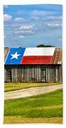 Texas Barn Flag Bath Towel