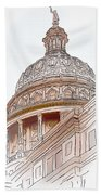 Texas Capitol Sketch Bath Towel