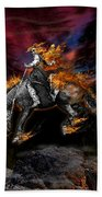 Texas Ghost Rider Hand Towel