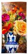 Textured Bouquet Bath Towel