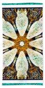 Textured Flower Kaleidoscope Triptych Bath Towel