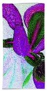 Textured Wild Purple Iris Bath Towel