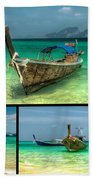 Thailand Longboats Bath Towel