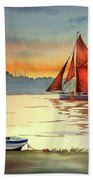 Thames Barge At Maldon Essex Bath Towel