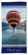 Thank You Hot Air Balloon In Alaska Bath Towel