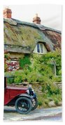Thatched Cottages At Reybridge Bath Towel by Paul Gulliver