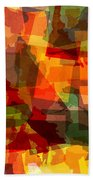 The Abstract States Of America Hand Towel