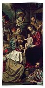 The Adoration Of The Magi, 1620 Oil On Canvas Bath Towel