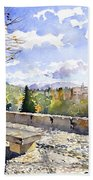The Alhambra In Autumn Bath Towel