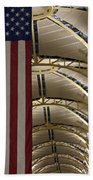 The American Flag At Reagan Airport Bath Towel