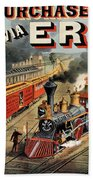 The American Railway Scene  Bath Towel