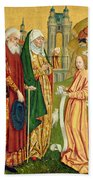The Annunciation To Joachim And Anne, From The Dome Altar, 1499 Bath Towel