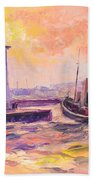 The Anstruther Harbour Bath Towel