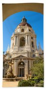 The Arch - Pasadena City Hall. Bath Towel
