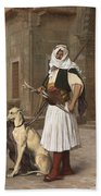 The Arnaut With Two Whippets Bath Towel