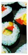 The Art Of Sushi Bath Towel