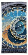 The Astronomical Clock In Prague Bath Towel