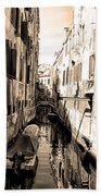 The Back Canals Of Venice Bath Towel