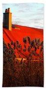 The Barn  At Sunset Bath Towel