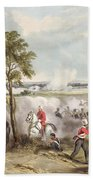 The Battle Of Goojerat On 21st February Bath Towel