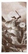 The Battle Of Hastings, Engraved Bath Towel