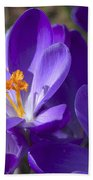 The Bee And The Crocus Bath Towel