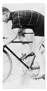 The Bicyclist - 1914 Bath Towel