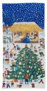 The Birth Of Christ Bath Towel