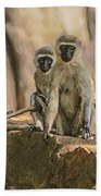 The Black-faced Vervet Monkey Bath Towel