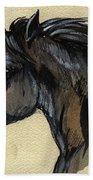 The Black Horse Bath Towel