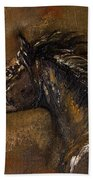 The Black Horse Oil Painting Bath Towel