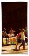 The Bookseller - New York City Street Scene - Street Vendor Bath Towel