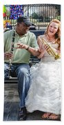 The Bride Plays The Trumpet- Destination Wedding New Orleans Bath Towel