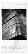 The Building Poster Bath Towel