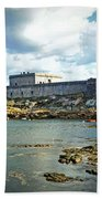 The Castle Fort On The Harbor Bath Towel